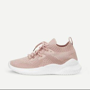 SHEIN Lace-up Front Knit Trainers